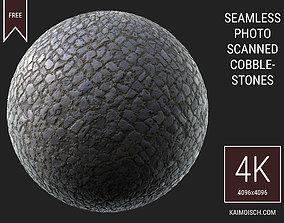 3D Scanned Seamless Cobblestone Pavement castle