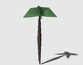 Origami Palm 3D asset
