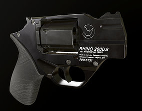 Revolver 3D asset low-poly fps