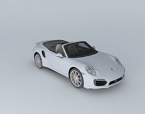 3D model 2014 Porsche 911 Turbo Cabriolet 991