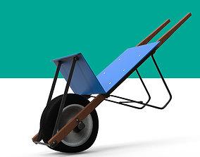 Wheelbarrow 3D asset rigged