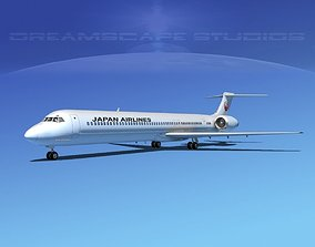 Douglas MD-80 Japan Airlines 3D model