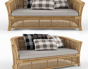 3D Montego Rattan Lounge