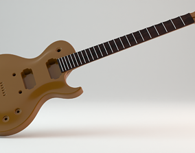 Original Single cut guitar Les Paul 3D printable model 2