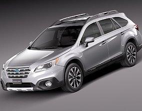 Subaru Outback 2015 3D model sedan