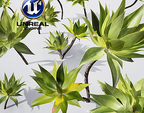 Realistic Plants 19 - UE4 Asset and FBX Files animated