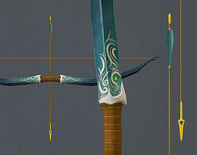 Elven Long Bow 3D model