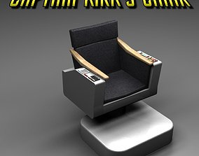 Captain Kirks Command Chair - Star Trek TOS 3D model
