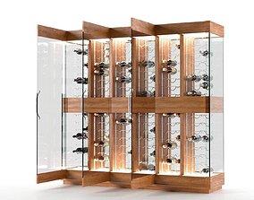 3D Contemporary Wine Cellar metalic