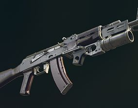 3D model AKM Automatic Rifle equipped with GL25