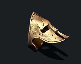 3D print model armour Spartan helmet ring