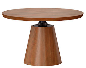 Revolve 48 Round Adjustable Height Dining Table 3D model 2