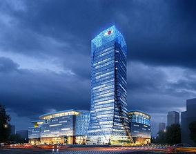 office Skyscraper Business Center 3D model