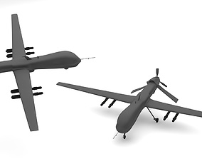 military-aircraft Predator Type Drones 3D model