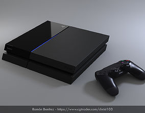 Sony Playstation 4 Low Poly 3D asset
