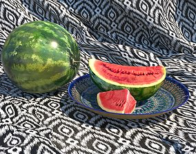 Asian watermelons 3D