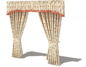 Floral Haning Curtains 3D