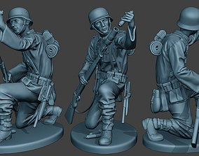 German soldier ww2 Schiessbecher2 G5 3D print model