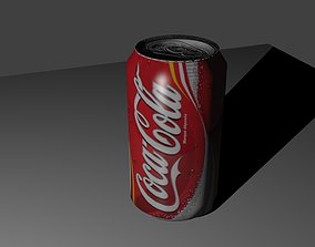 can 3D model low-poly Coke Can
