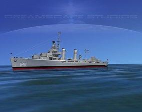 3D Gleaves Class Destroyer USS Turner