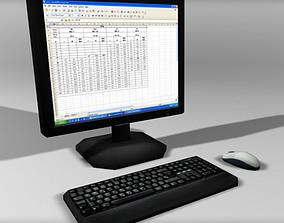 3D asset Computer Desktop Low Poly