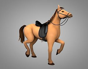 Horse 3D asset animated