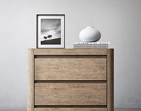 3D model RH MARTENS 30in CLOSED NIGHTSTAND