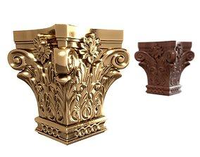 Pilaster Capitals 3D model cnc