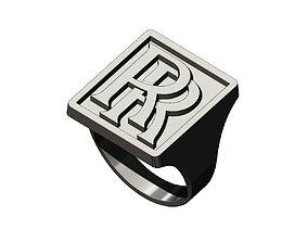 RR rolls-royce logo replica large 3D printable model 3