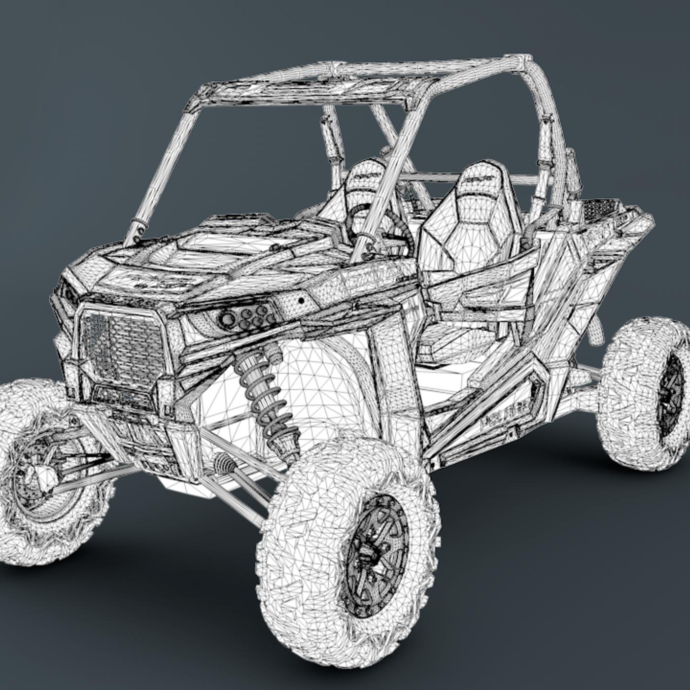 Polaris Ranger RZR 1000 Blue Version