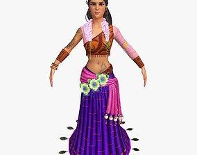 Sita Character Optimized 3D asset