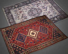 3D asset Blue and Red Rugs Antiques - PBR Game Ready