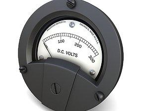 3D model Panel DC Voltmeter 02