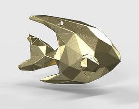 Angelfish - Ocean Charm 3D Model - Origami Printing