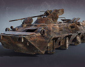 3D model BTR-80A Burnt