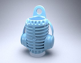 3D print model Stylized mouthpiece microphone with 1