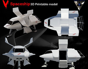 V Spaceship replica 3D printable model
