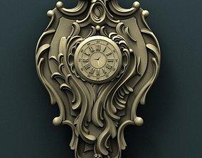 Wall clock 3d stl model for cnc bas