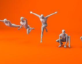 6 Super Heroes People Minimalist 3D model