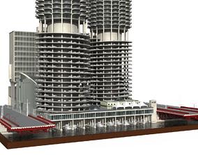 3D asset Marina city Goldberg Chicago