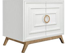 3D asset Worlds Away Bernard White Lacquer 2 Door Cabinet