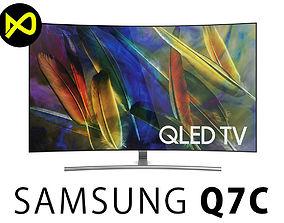 3D Samsung Q7C 65 Inch Curved QLED 4K TV