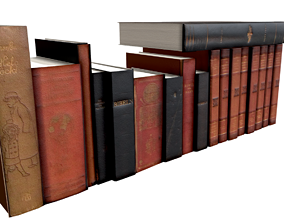3D model low-poly Books