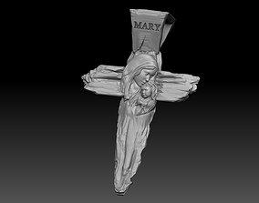 Virgin Mary CROSS 3D printable model