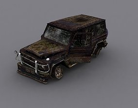 3D model Damage Car Mercedes g 500