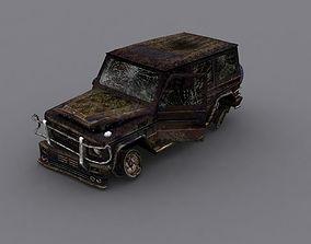3D model Damage Car Mercedes g 500