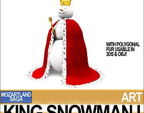 King Snowman I 3D model