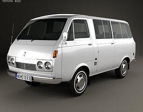 3D Toyota Hiace Passenger Van 1967