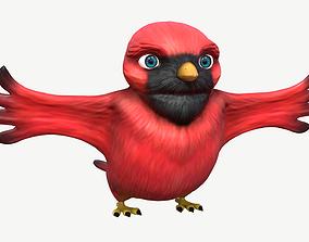 3D asset Cardinal Cartoon Bird