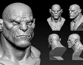 Azog Bust sculpture 3D print model